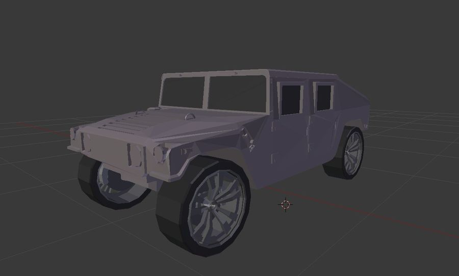 Humvee (Textured) royalty-free 3d model - Preview no. 7