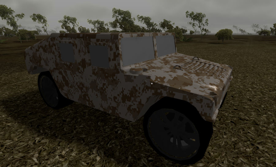 Humvee (Textured) royalty-free 3d model - Preview no. 10