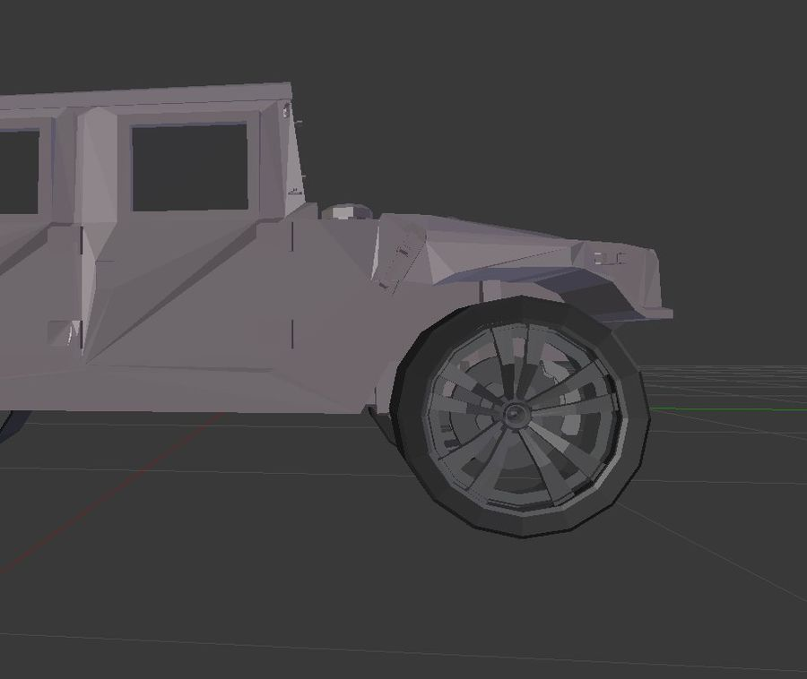 Humvee (Textured) royalty-free 3d model - Preview no. 8