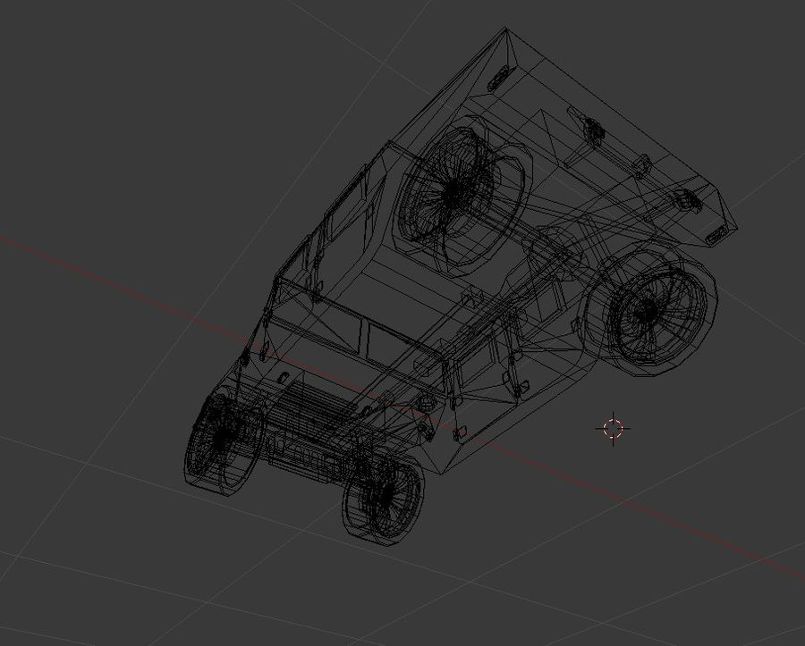 Humvee (Textured) royalty-free 3d model - Preview no. 5