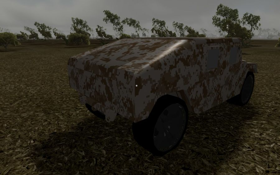 Humvee (Textured) royalty-free 3d model - Preview no. 12