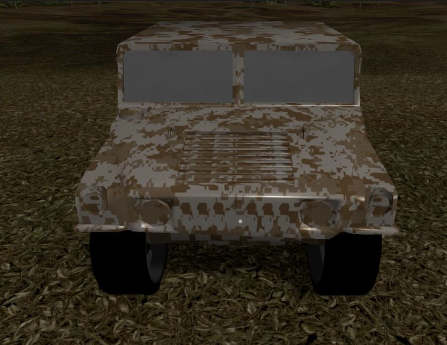 Humvee (Textured) royalty-free 3d model - Preview no. 11