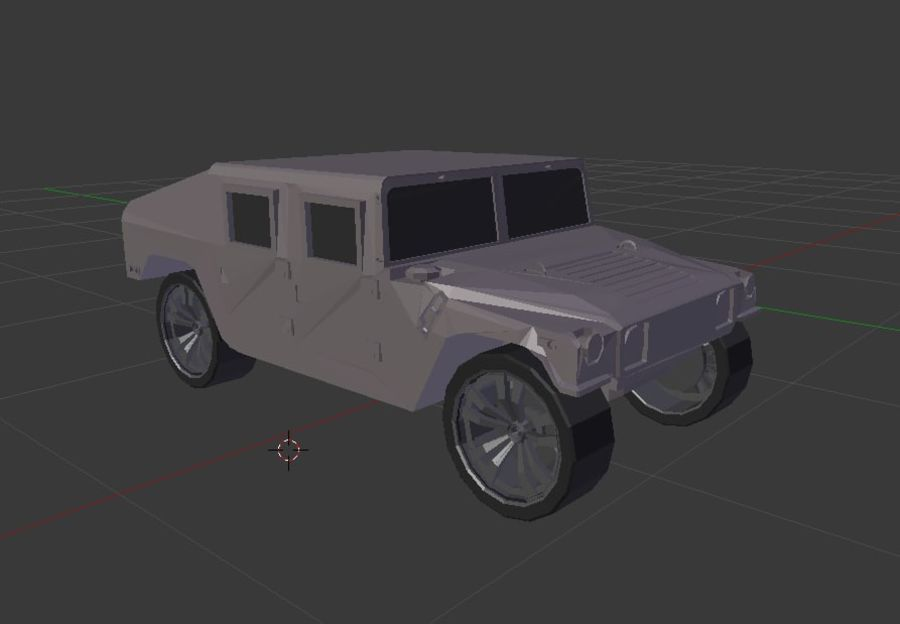 Humvee (Textured) royalty-free 3d model - Preview no. 1