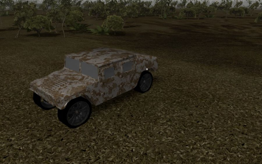 Humvee (Textured) royalty-free 3d model - Preview no. 9