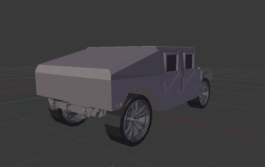 Humvee (Textured) royalty-free 3d model - Preview no. 2
