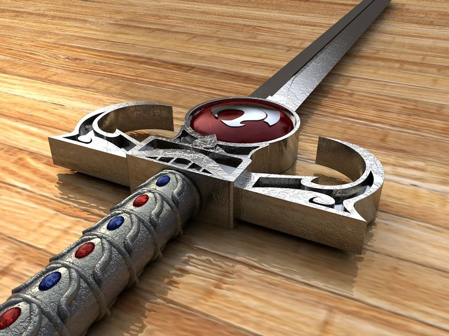 Thundercats Omens Sword royalty-free 3d model - Preview no. 3