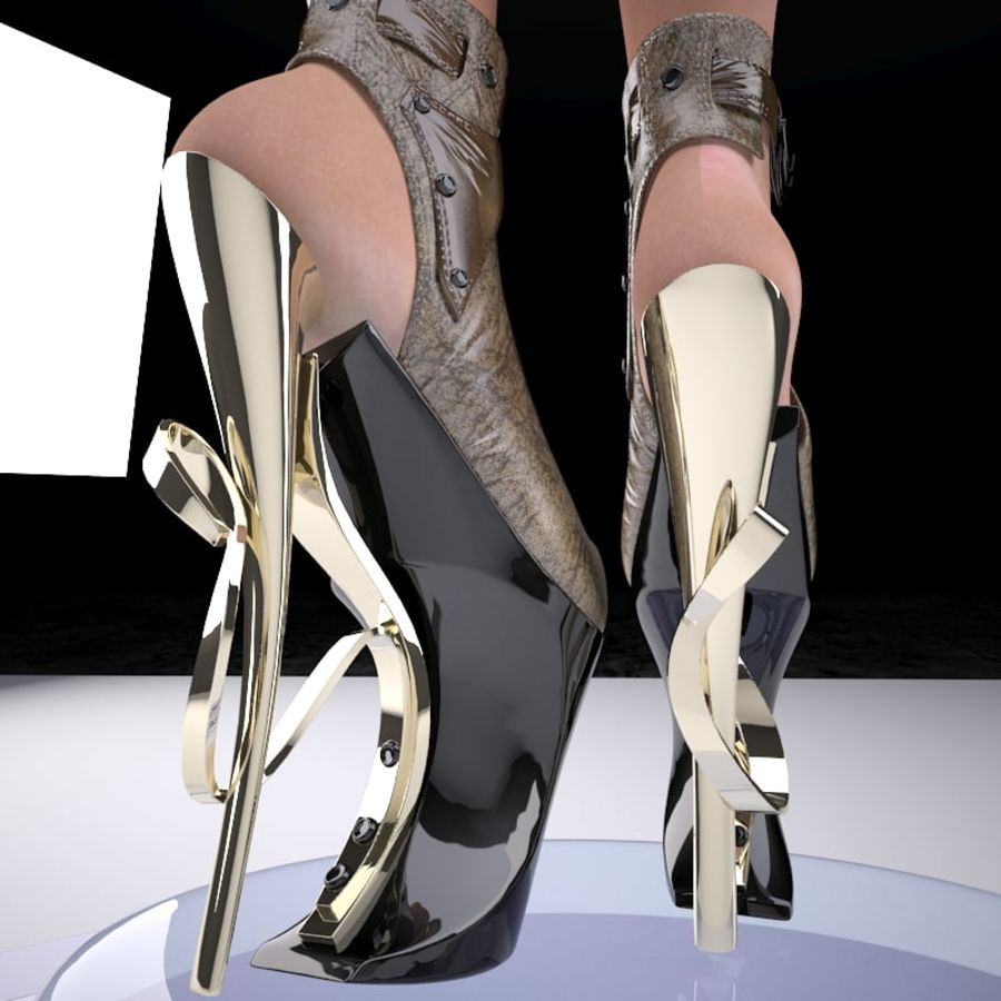 inferno high heels shoe royalty-free 3d model - Preview no. 2