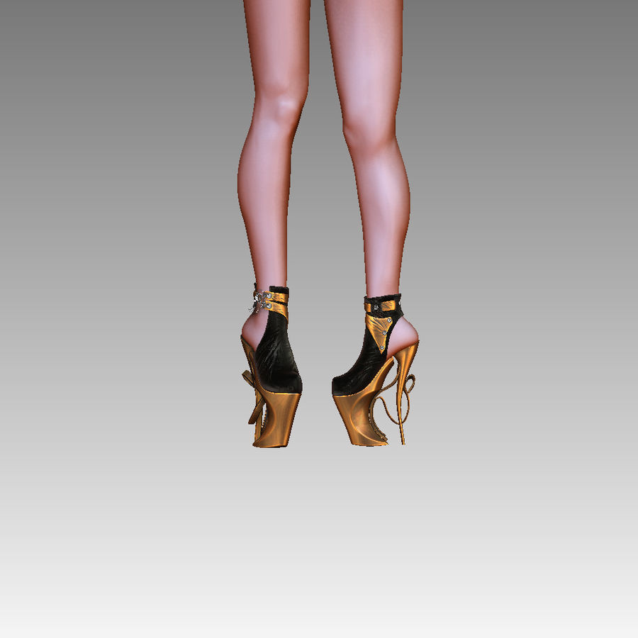 inferno high heels shoe royalty-free 3d model - Preview no. 7