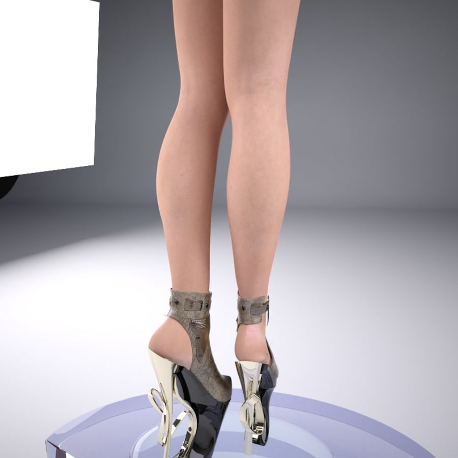 inferno high heels shoe royalty-free 3d model - Preview no. 4