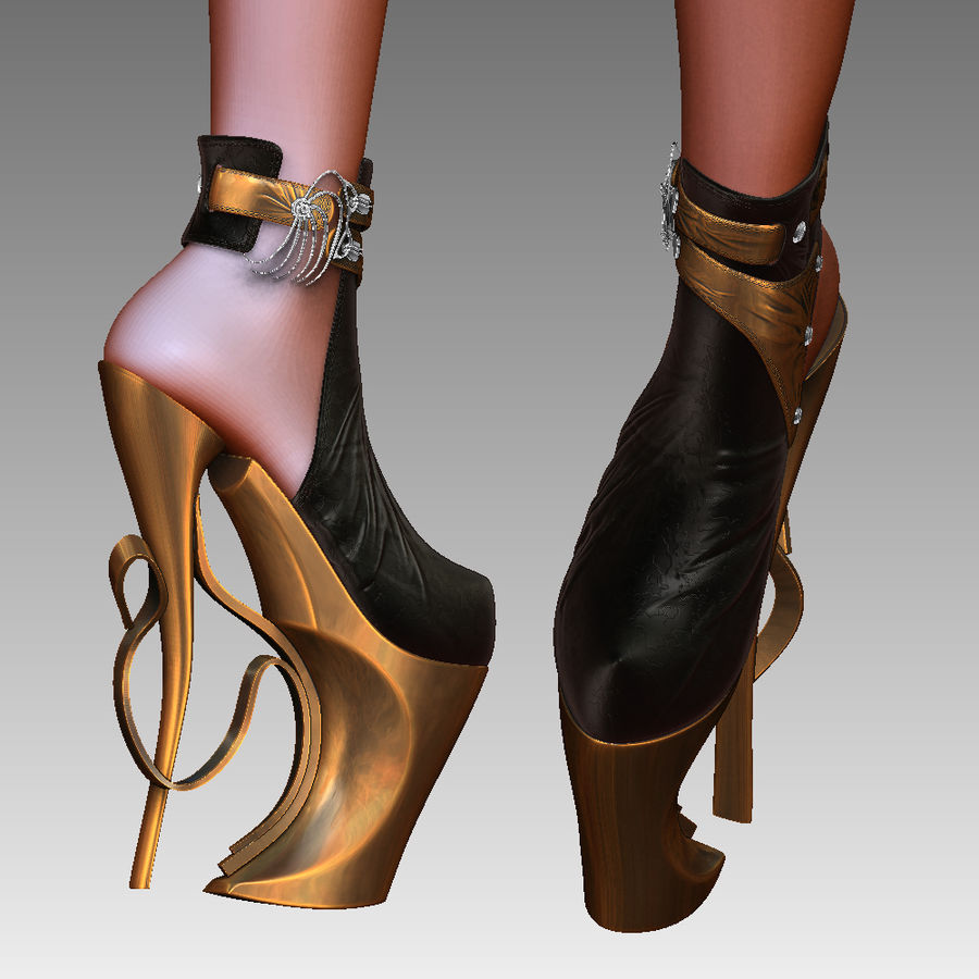 inferno high heels shoe royalty-free 3d model - Preview no. 5