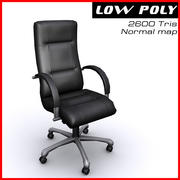 Armchair boss black chrome 3d model
