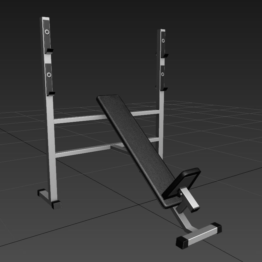 Trainer gym bänk royalty-free 3d model - Preview no. 2