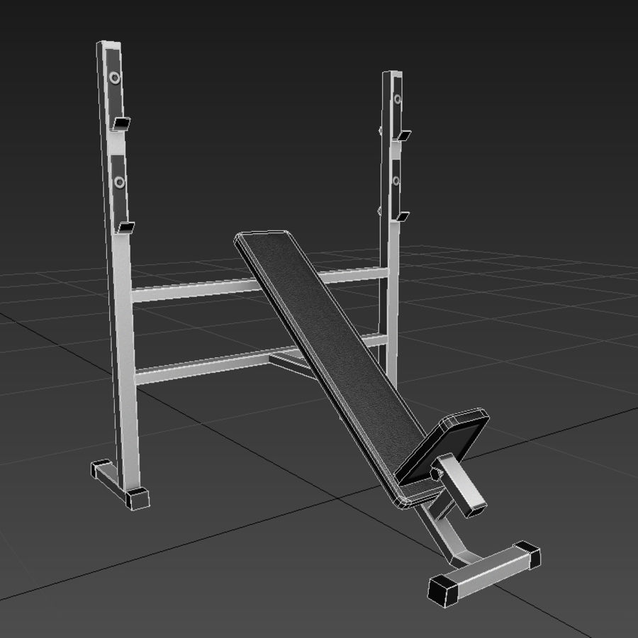 Trainer gym bänk royalty-free 3d model - Preview no. 3