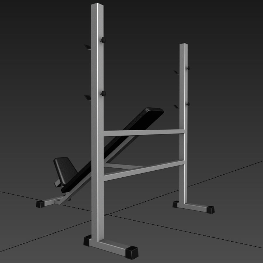Trainer gym bänk royalty-free 3d model - Preview no. 4