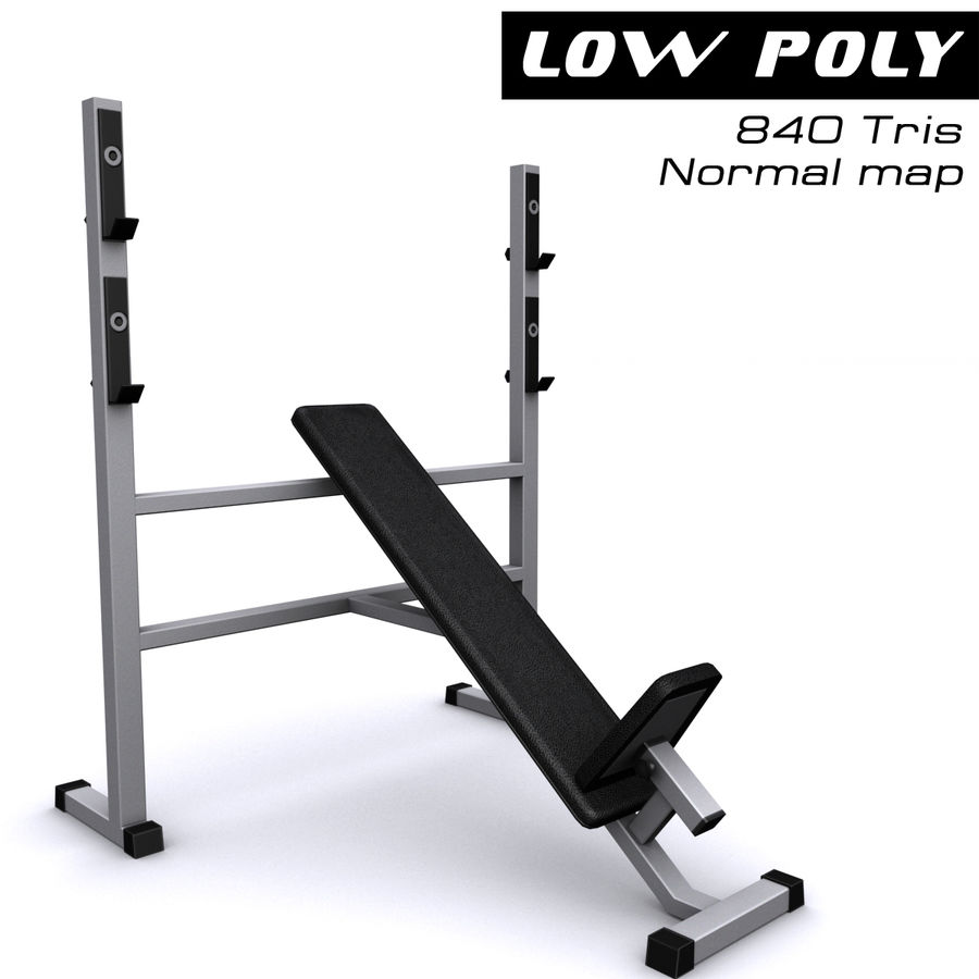 Trainer gym bänk royalty-free 3d model - Preview no. 1