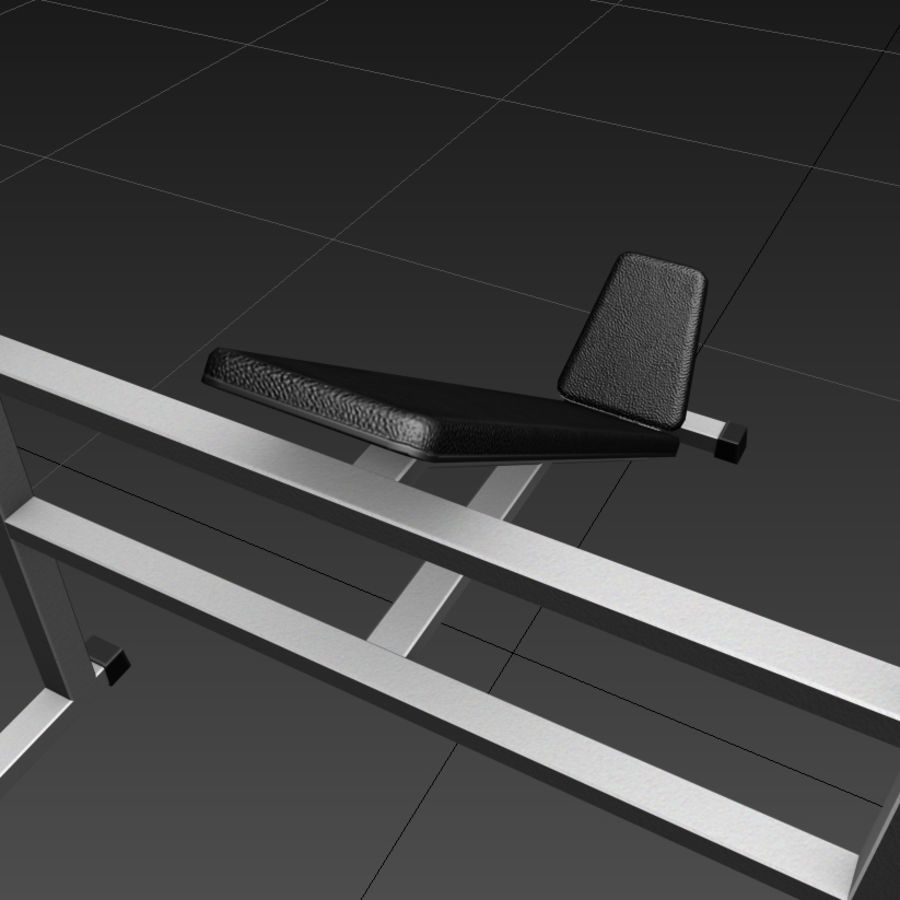 Trainer gym bänk royalty-free 3d model - Preview no. 6