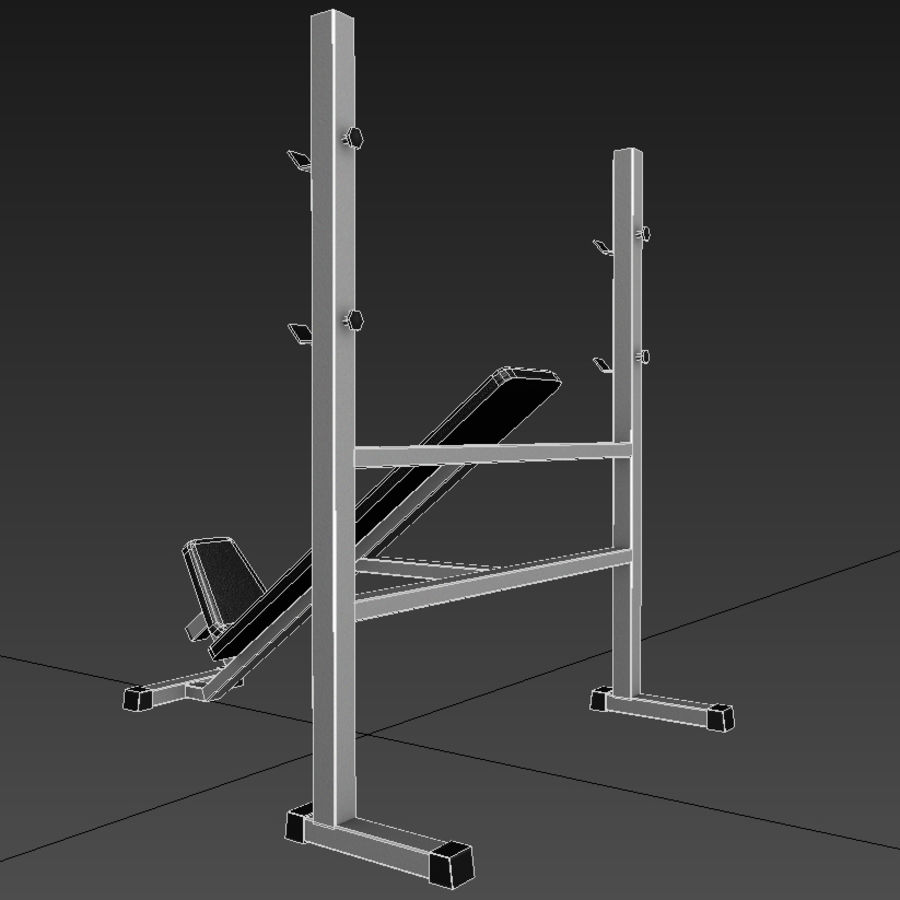 Trainer gym bänk royalty-free 3d model - Preview no. 5
