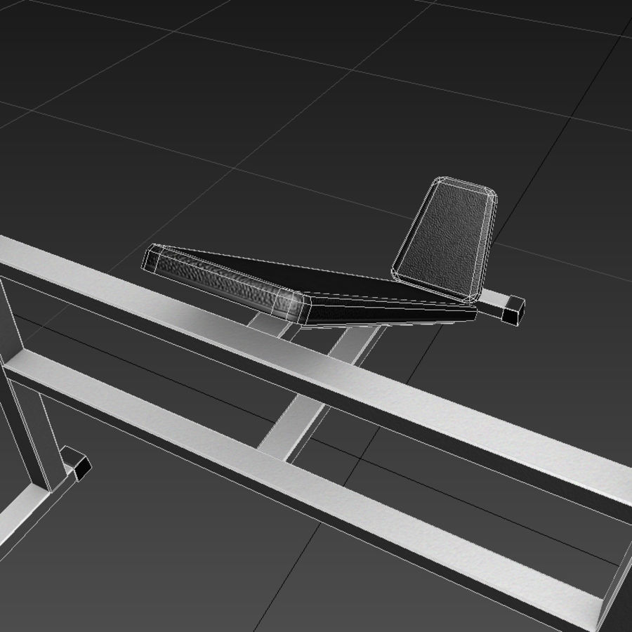 Trainer gym bänk royalty-free 3d model - Preview no. 7