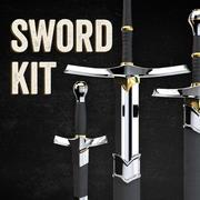 Zestaw miecza 3d model