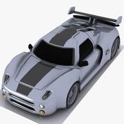 Çizgi Film Spor Araba 3 3d model
