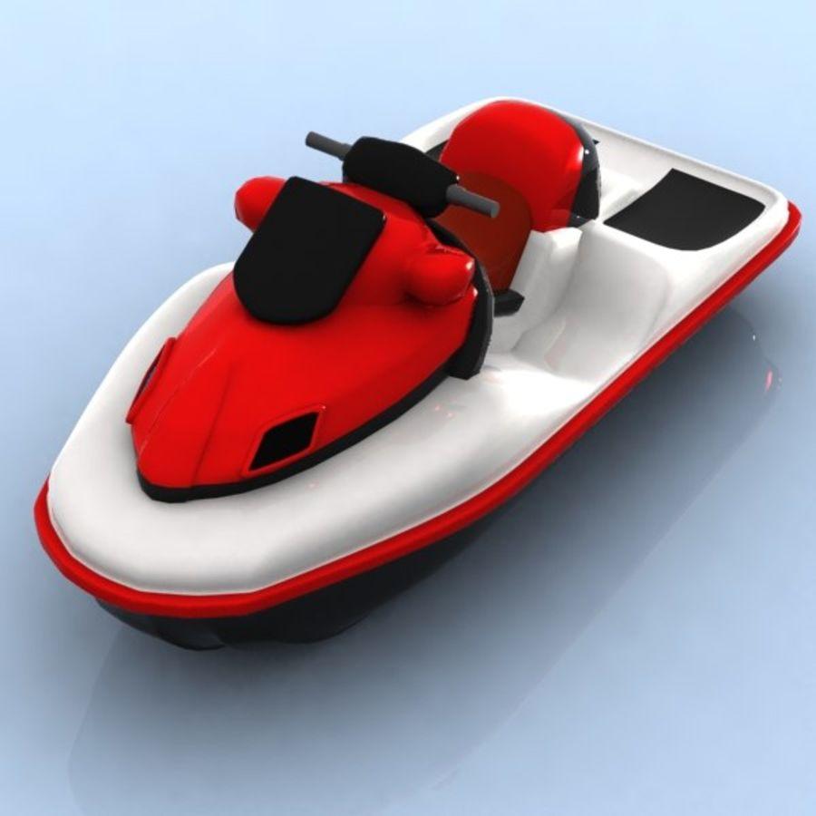 Cartoon Jet Ski 3d Model 15 Obj Max Fbx 3ds Unknown Free3d