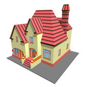 lime color home 3d model