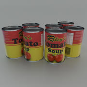 Tinned tomato soup tin can 3d model