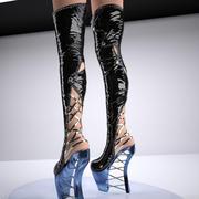 sexy Zickzack-Stiefel 3d model
