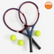 Raqueta de tenis y pelota modelo 3d