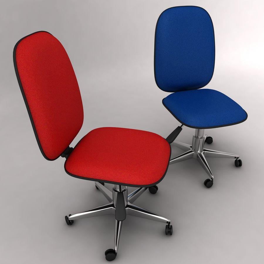 办公椅 royalty-free 3d model - Preview no. 2