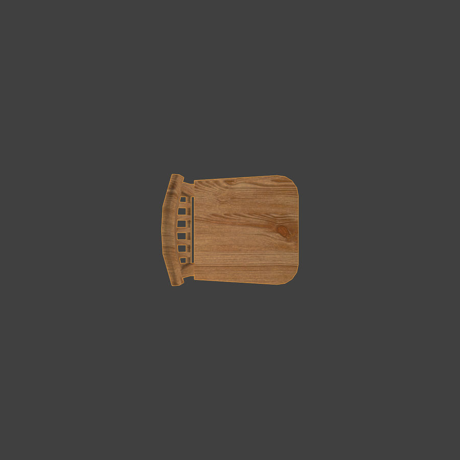 Wooden Chair Low Poly royalty-free 3d model - Preview no. 9