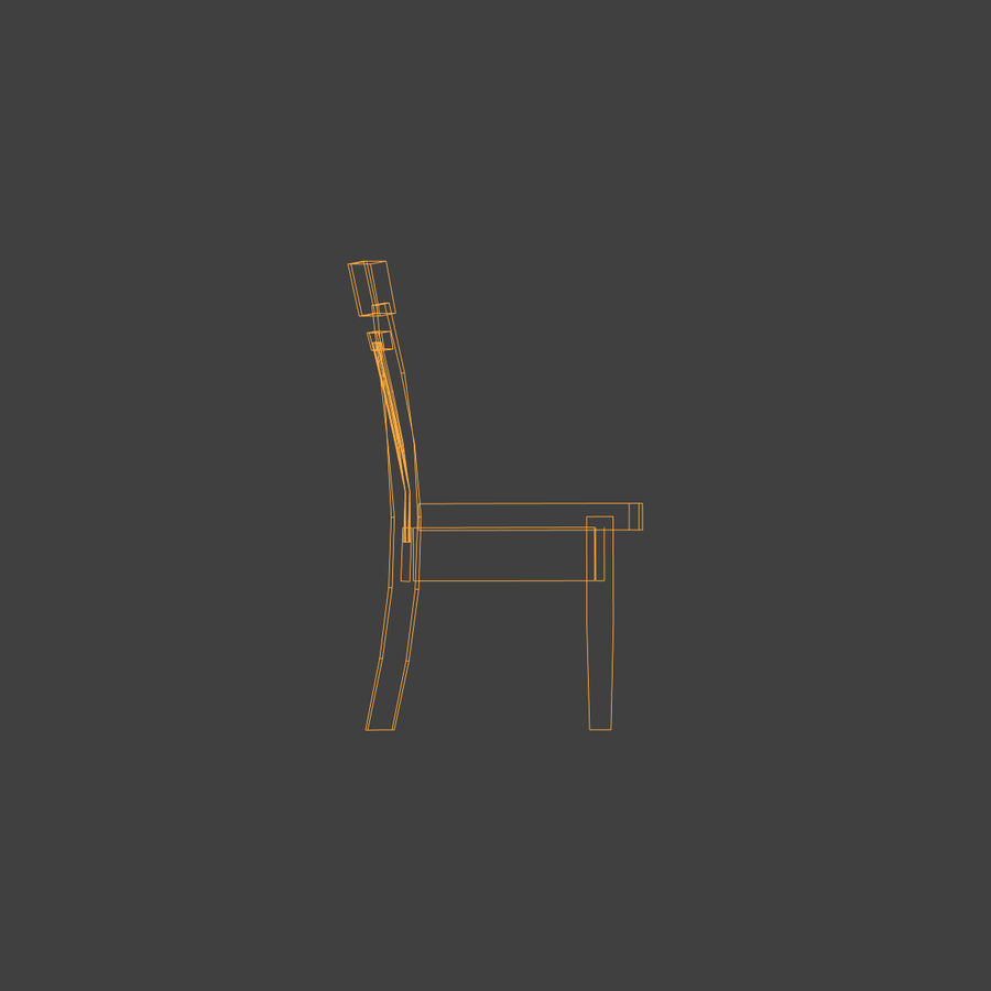 Wooden Chair Low Poly royalty-free 3d model - Preview no. 13