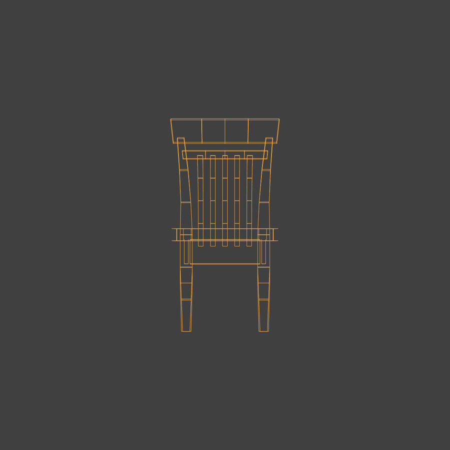 Wooden Chair Low Poly royalty-free 3d model - Preview no. 14
