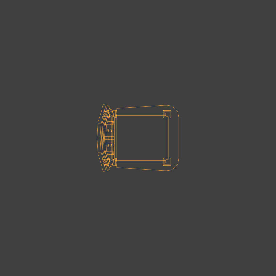 Wooden Chair Low Poly royalty-free 3d model - Preview no. 15