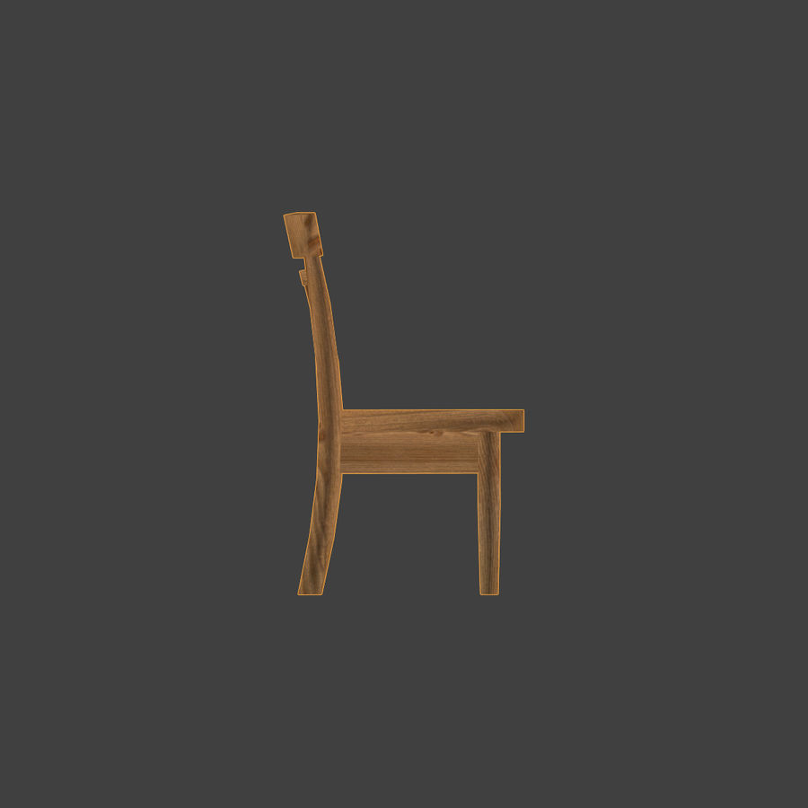 Wooden Chair Low Poly royalty-free 3d model - Preview no. 5