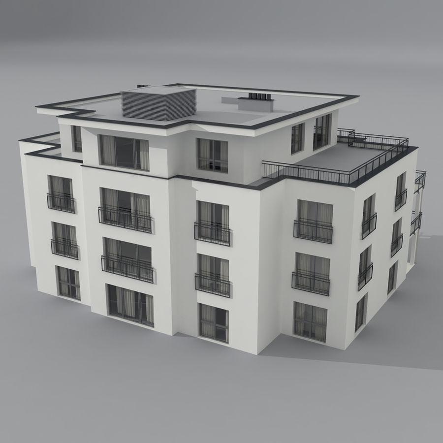 Budynek royalty-free 3d model - Preview no. 2