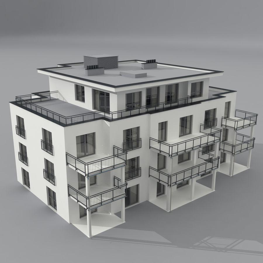 Budynek royalty-free 3d model - Preview no. 1