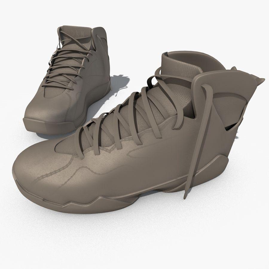 d6a60cdff124c7 Nike Air Jordan 7 RETRO royalty-free 3d model - Preview no. 10