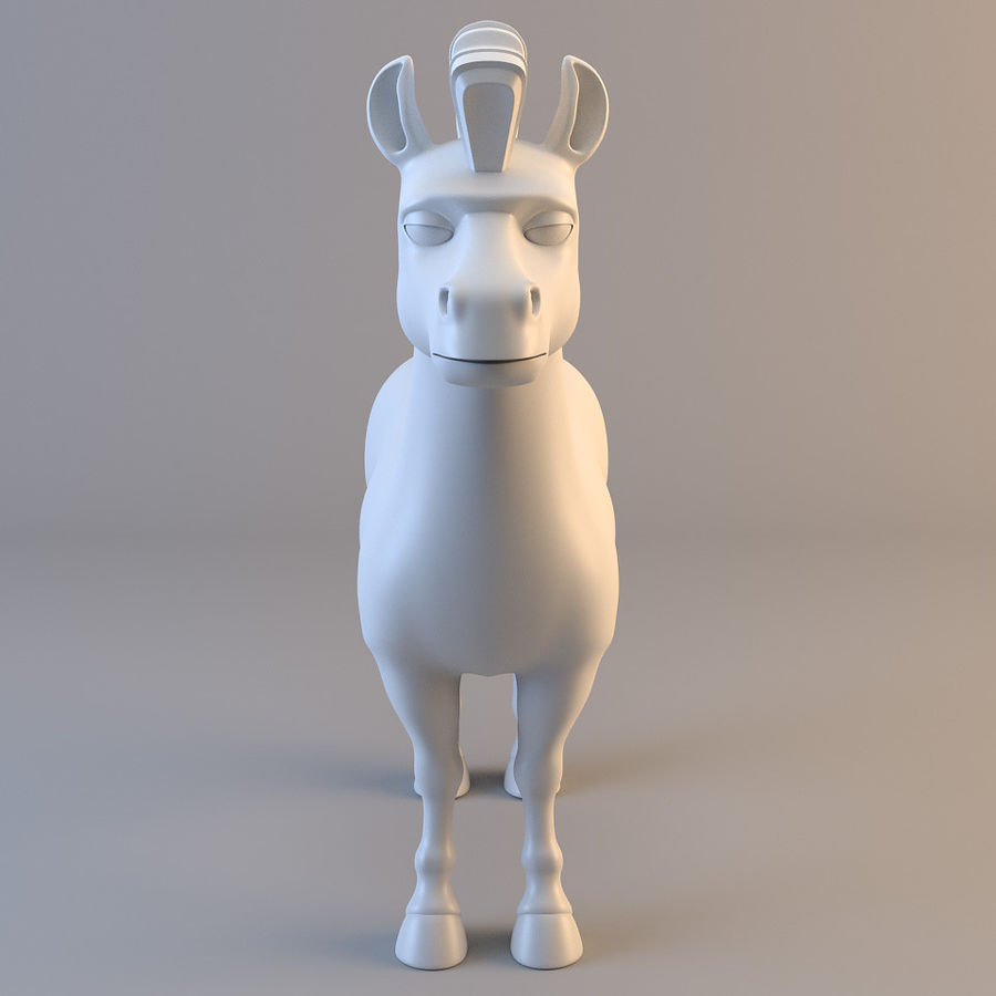 Cartoon Zebra royalty-free 3d model - Preview no. 1