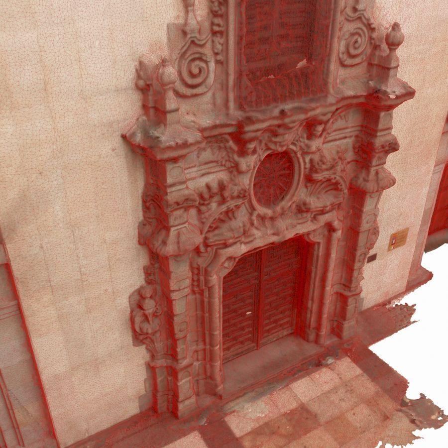 Portal door building scan royalty-free 3d model - Preview no. 6