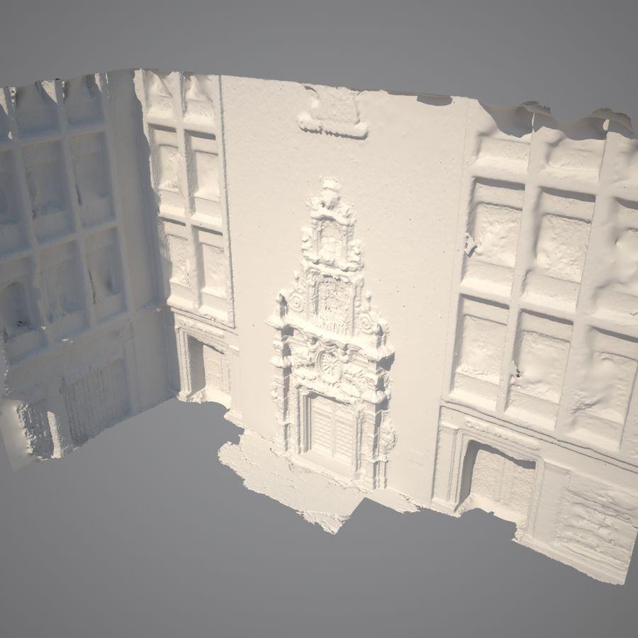 Portal door building scan royalty-free 3d model - Preview no. 7