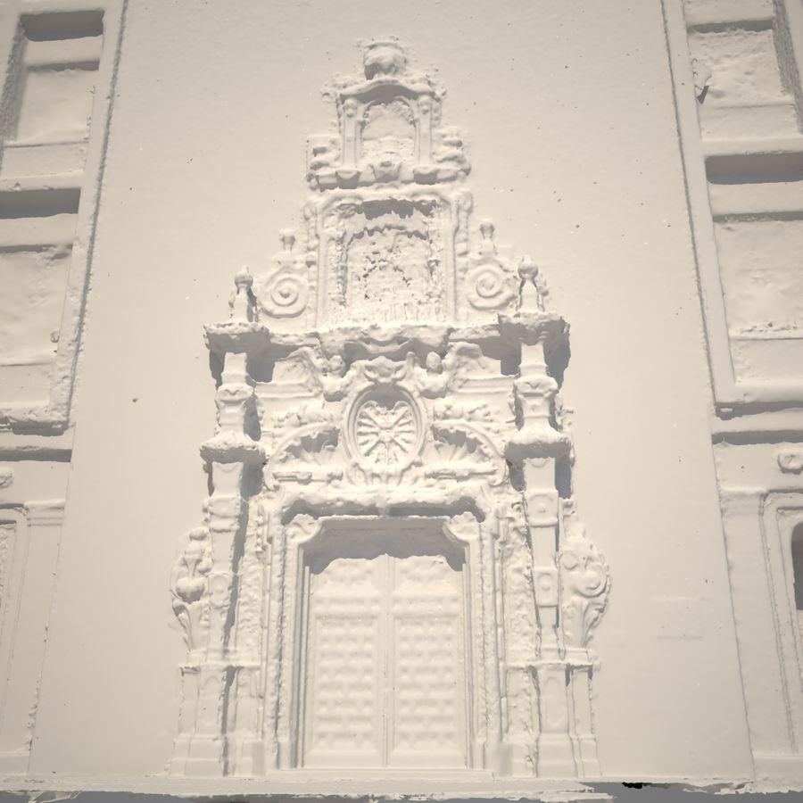 Portal door building scan royalty-free 3d model - Preview no. 8