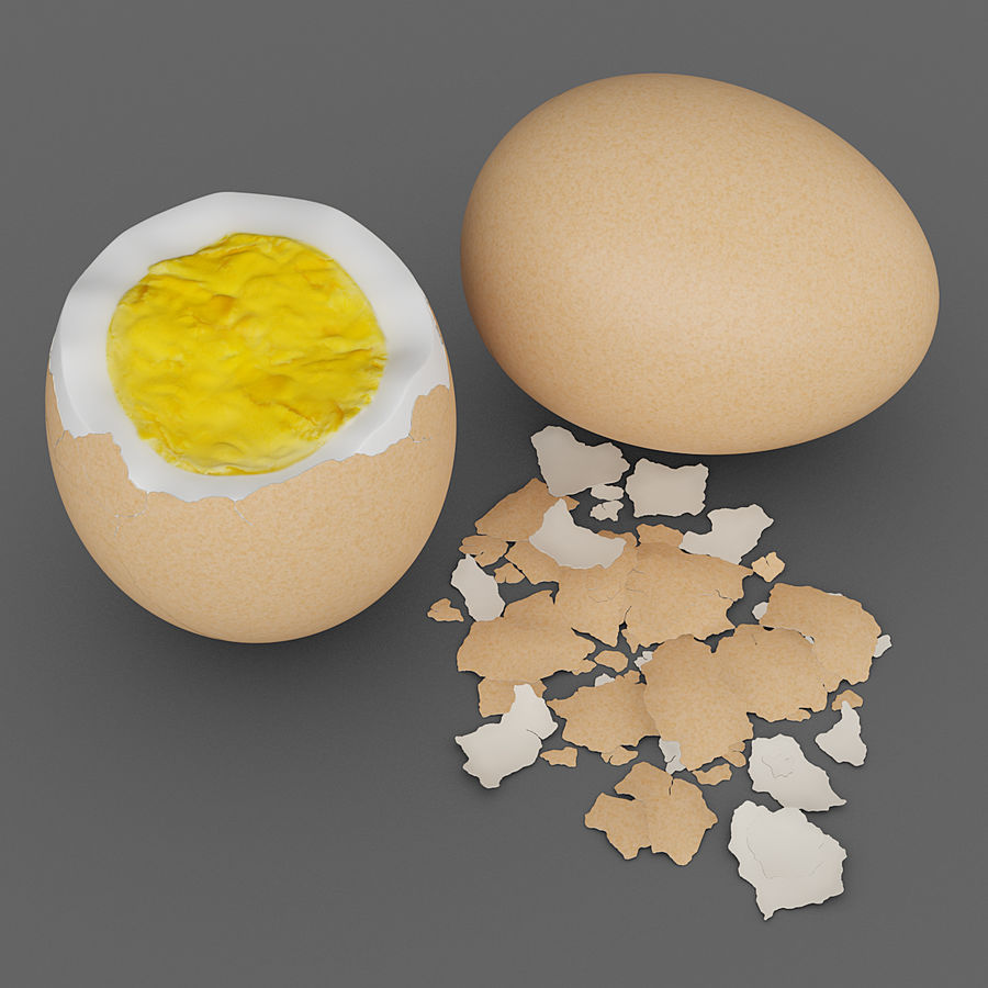 Boiled Eggs royalty-free 3d model - Preview no. 1