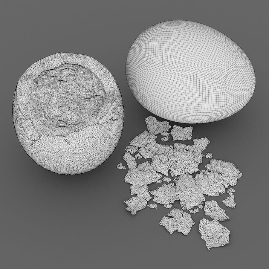 Boiled Eggs royalty-free 3d model - Preview no. 6