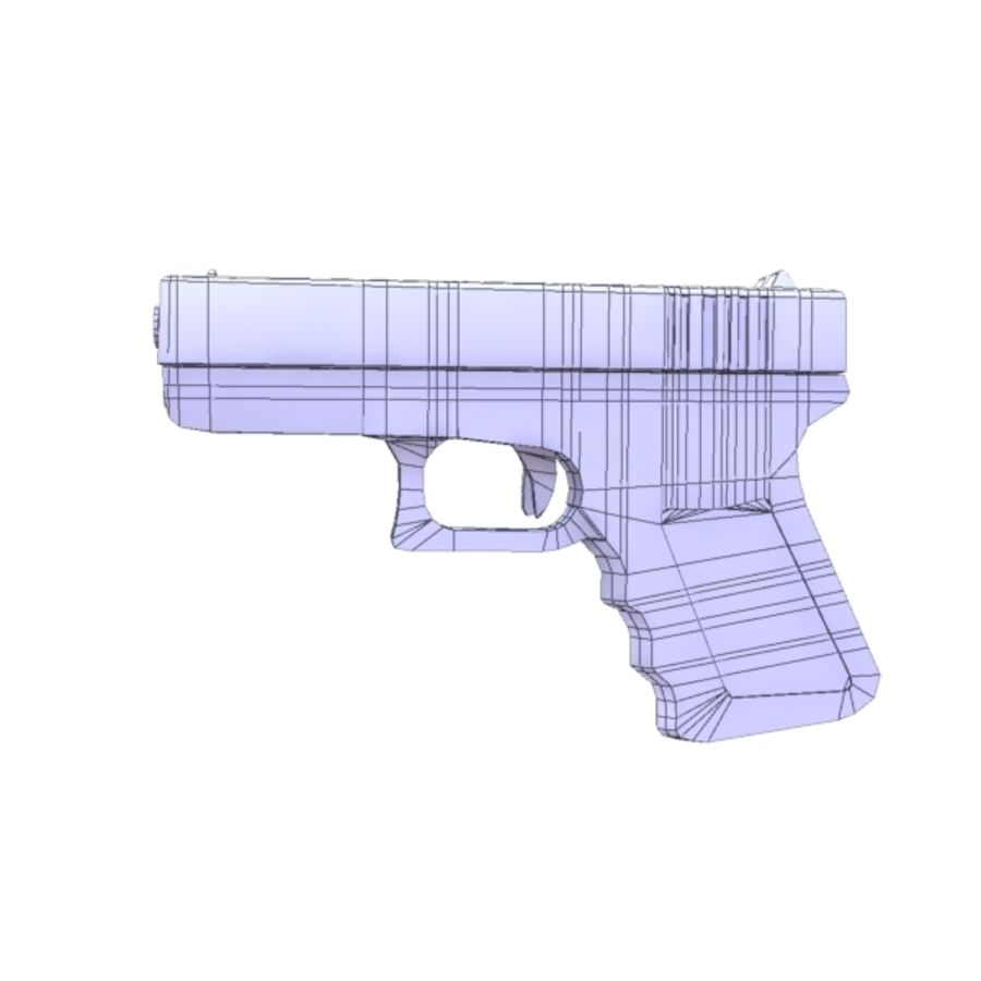 Glock 17 royalty-free 3d model - Preview no. 10