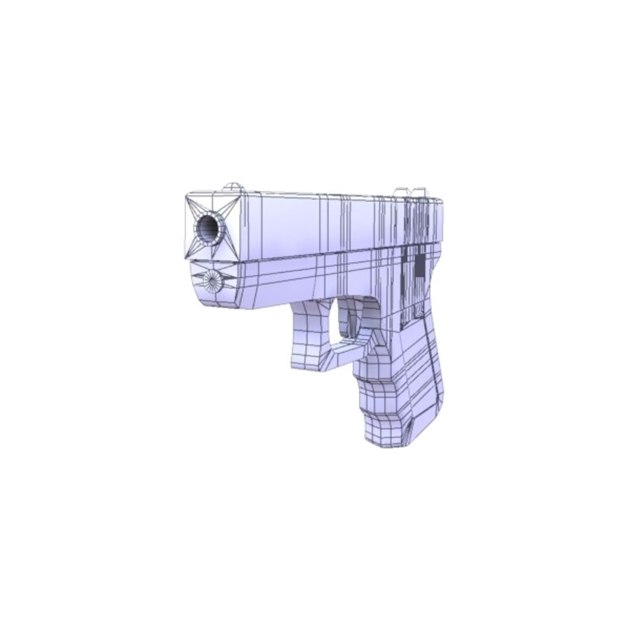 Glock 17 royalty-free 3d model - Preview no. 9