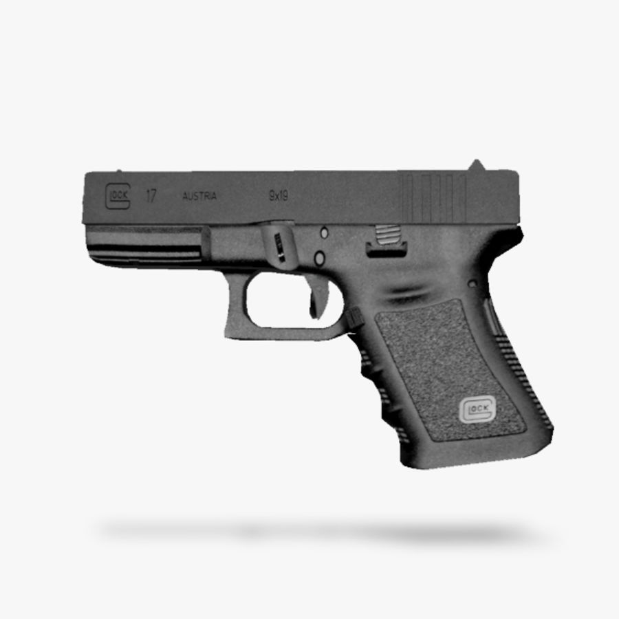 Glock 17 royalty-free 3d model - Preview no. 1