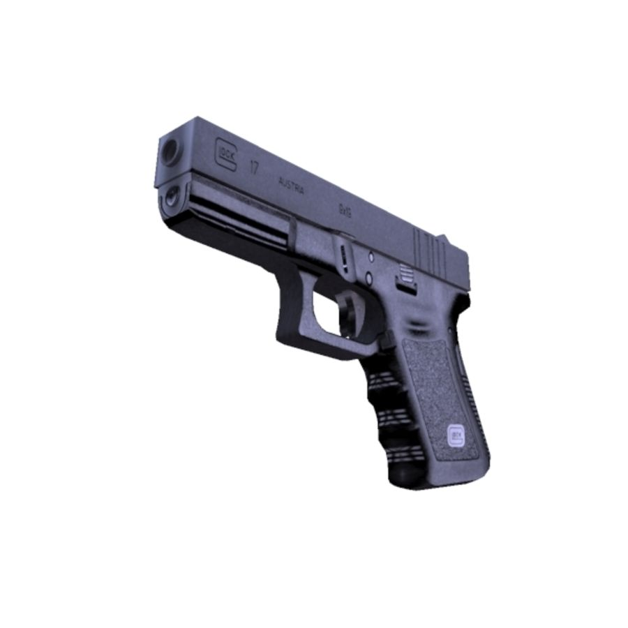 Glock 17 royalty-free 3d model - Preview no. 7