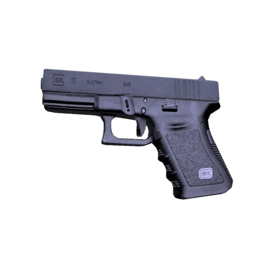 Glock 17 royalty-free 3d model - Preview no. 3