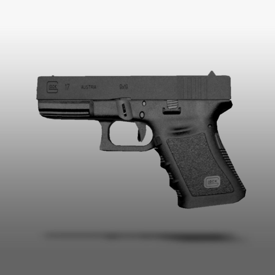 Glock 17 royalty-free 3d model - Preview no. 2